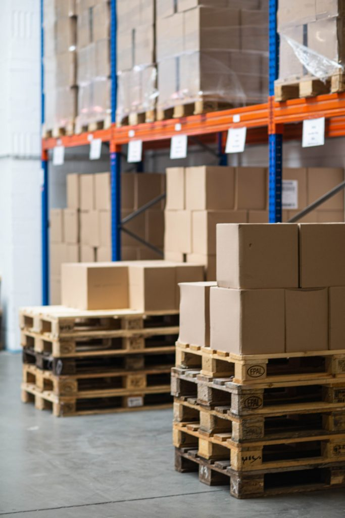 Distra-Handel-Paletten-Kartons